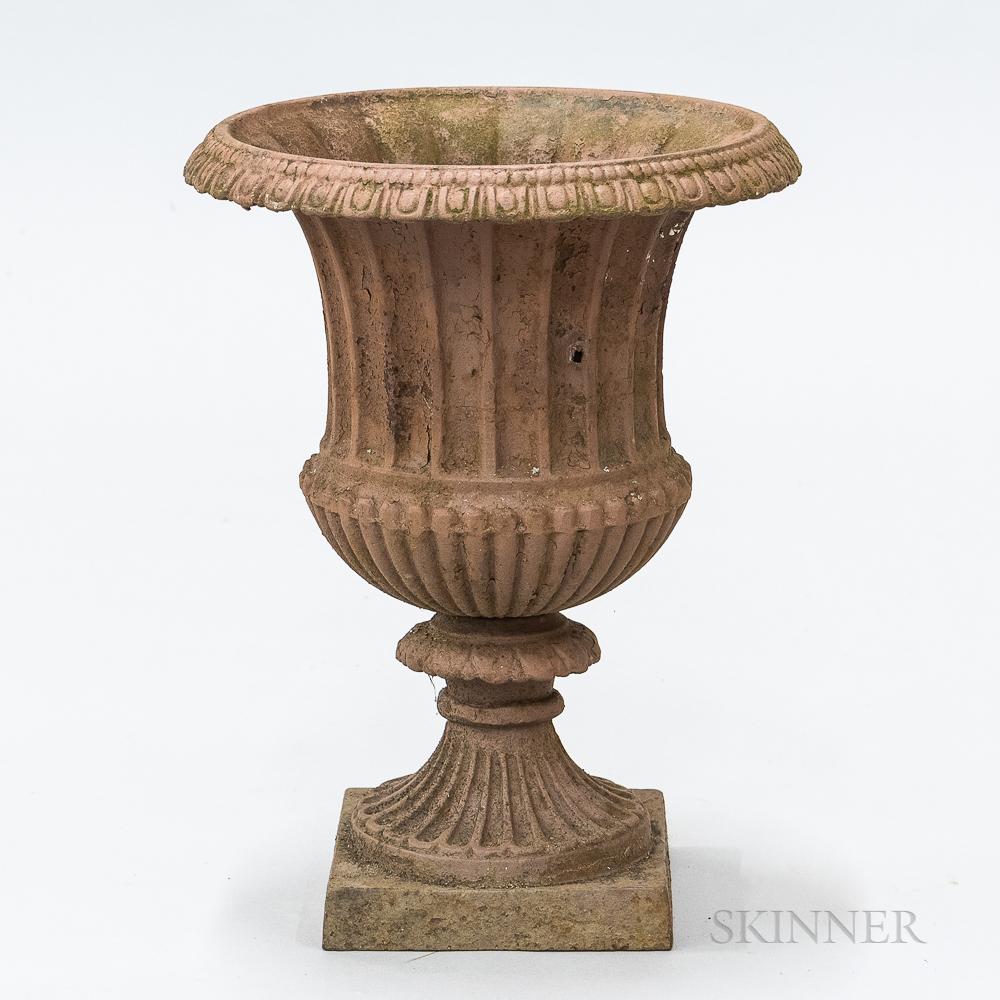 Small Cast Iron Garden Urn