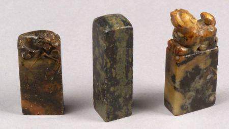 Three Soapstone Seals