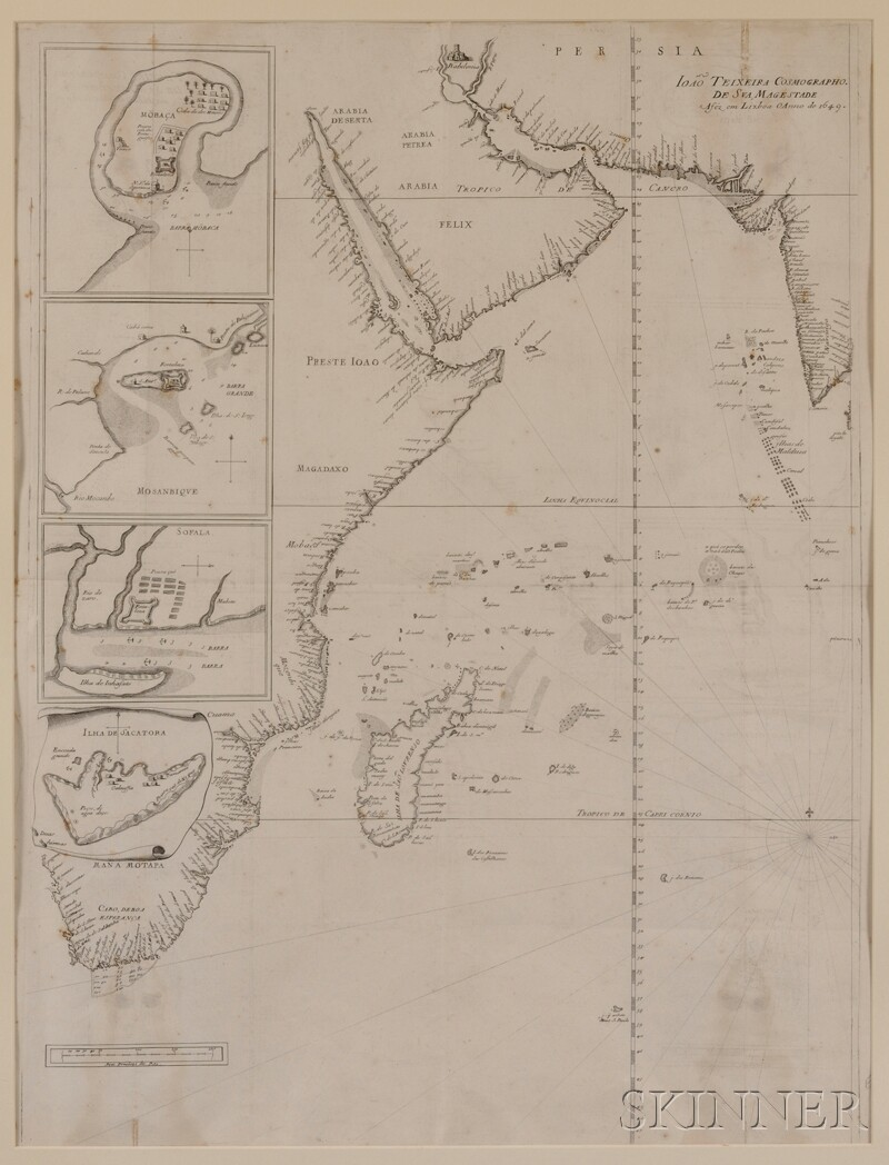 (Maps and Charts, Africa and Indian Ocean), Teixeira, Joao & Thevenot, Melchisedec