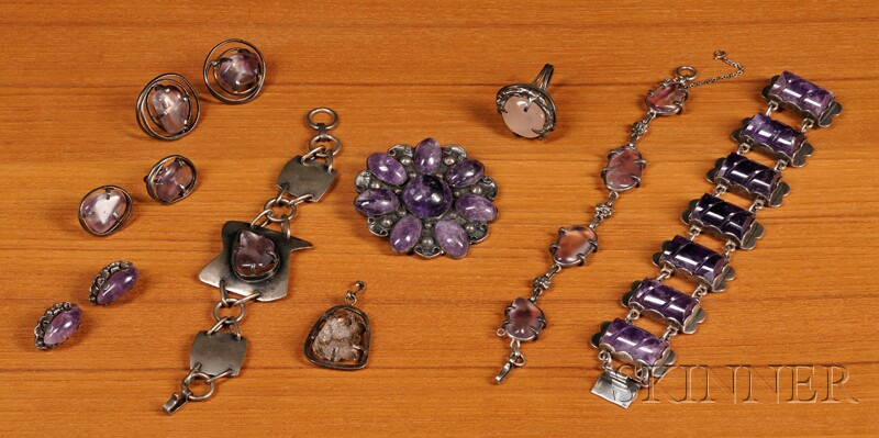 Nine Pieces of Mexican Jewelry