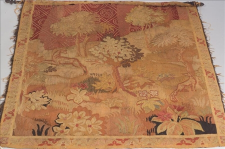 Continental Wool Tapestry Fragment