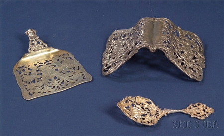Three Reticulated Silver Teawares