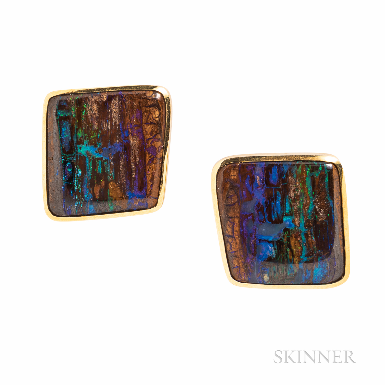 Tamsen Z 18kt Gold and Boulder Opal Earrings