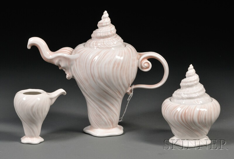 Royal Copenhagen Three-piece Porcelain Tea Set