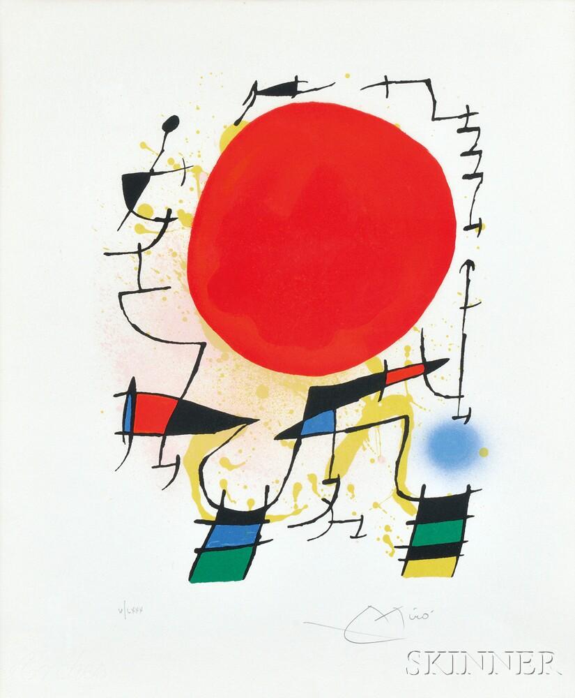 Joan Miró (Spanish, 1893-1983)      Untitled  (Soleil Rouge)