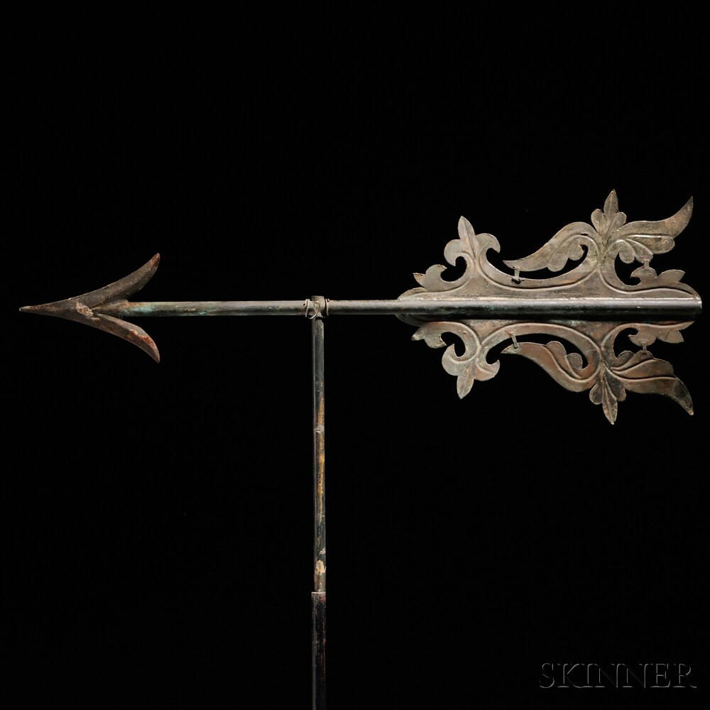 Embossed Sheet Copper And Iron Arrow Bannerette