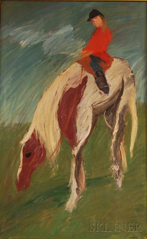 Herbert Katzman (American, 1923-2004)      Annie Riding Cricket