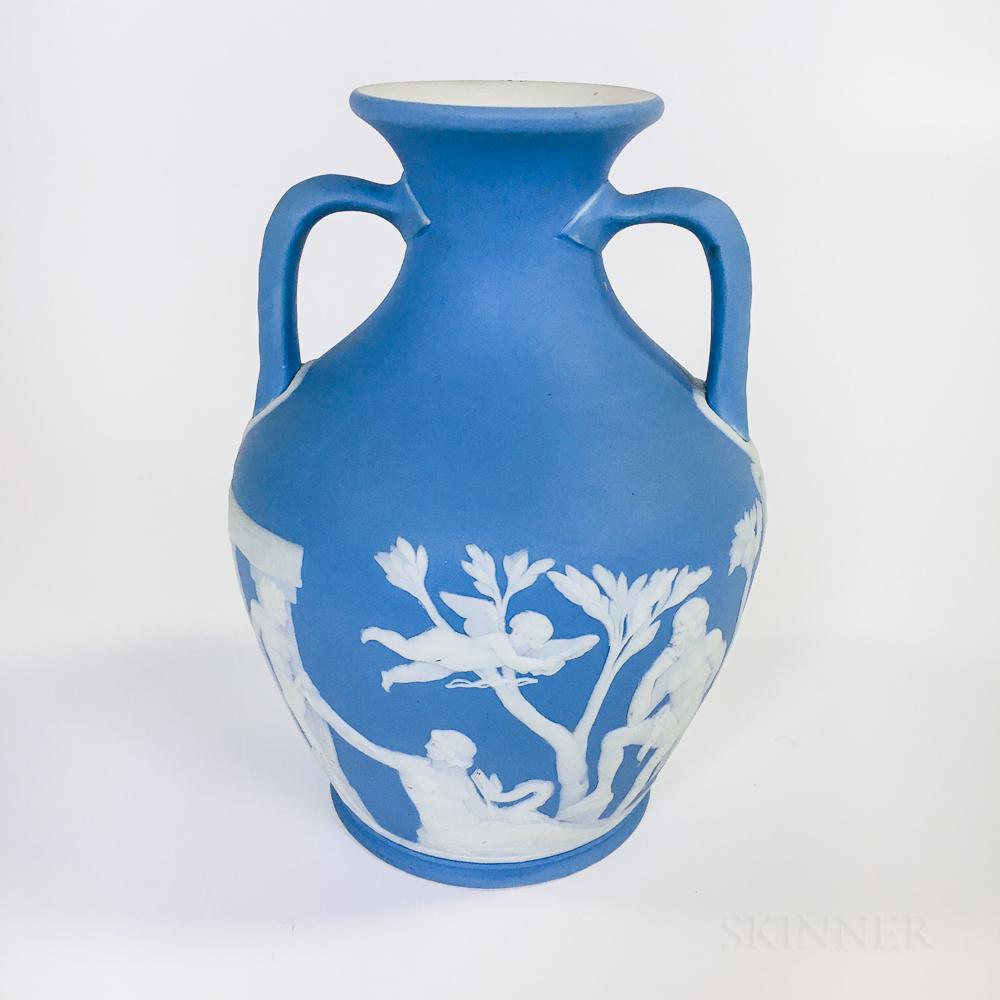 Wedgwood Light Blue Jasper Portland Vase