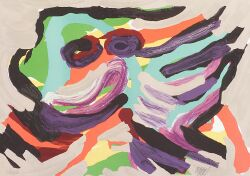 Karel  Appel (Dutch/American, b. 1921)  Animal