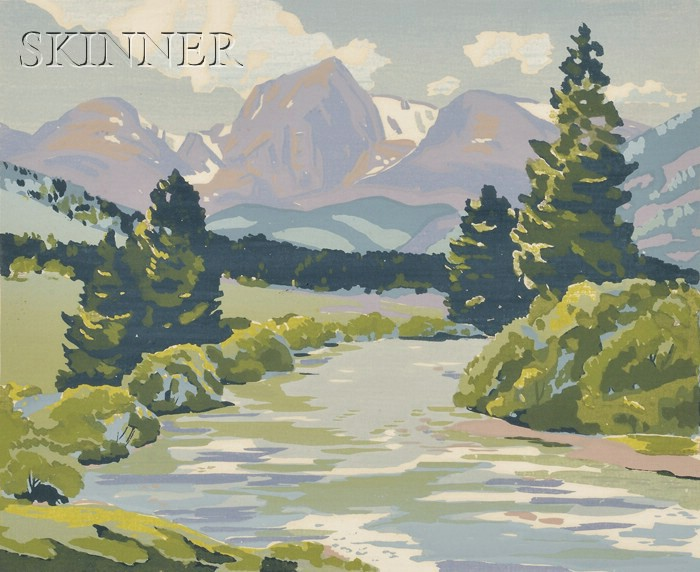 Alfred James Wands (American, 1904-1980)      Lot of Two Mountain Views:  The Rockies