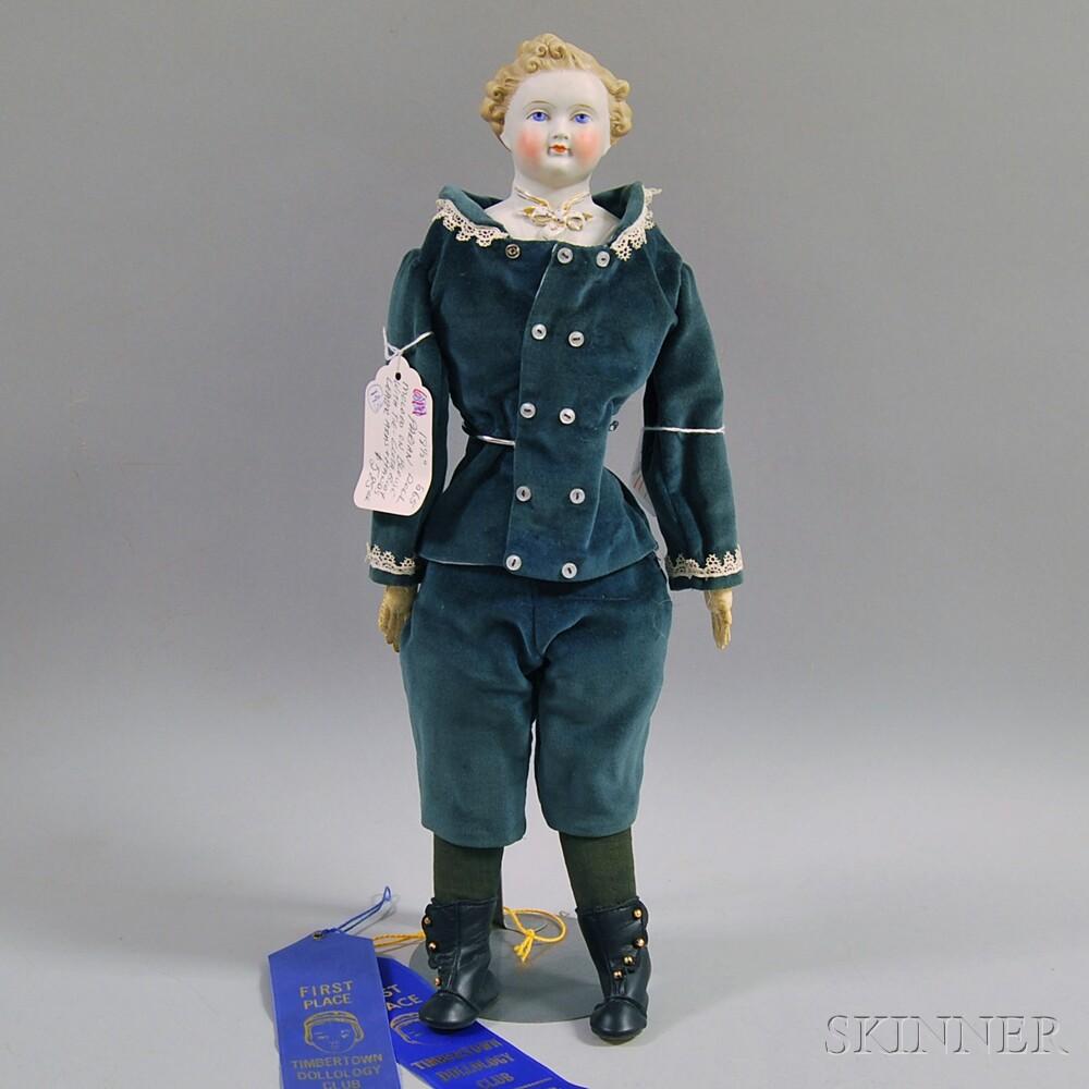 Blonde Parian Shoulder Head Gentleman Doll