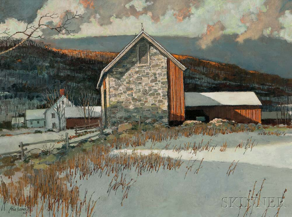 Eric Sloane (American, 1905-1985)      New England Winter