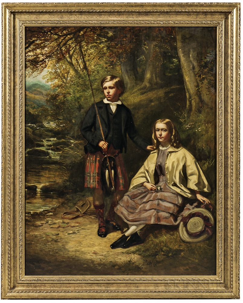 British School, 19th Century      The Young Anglers