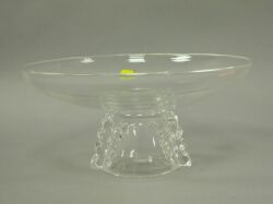 Steuben Colorless Glass Compote.