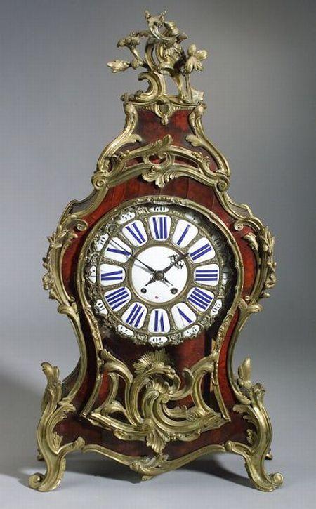 Louis XV Style Tortoiseshell and Bronze-Mounted Bracket Clock