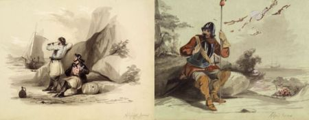 Attributed to Alfred Jones (American, 1819-1900)    Lot of Two Illustrations:  Startled Soldier