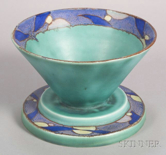 Clarice Cliff/Newport Pottery Inspiration Bizarre Footed Bowl