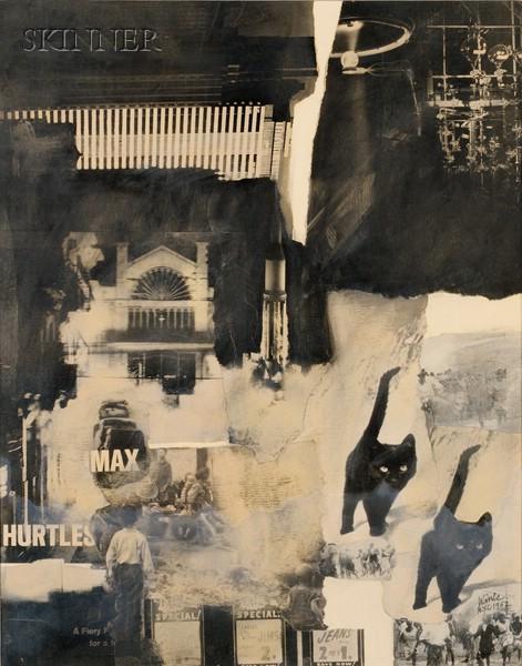 James N. Wines (American, b. 1932)      Two Prints:  Untitled (Black Cat)