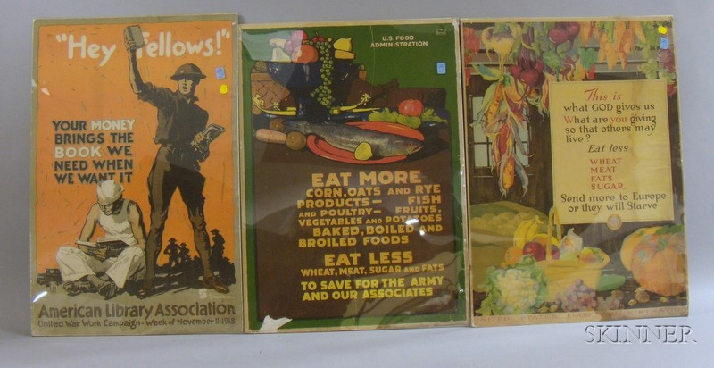 Five WWI Era Lithograph Posters