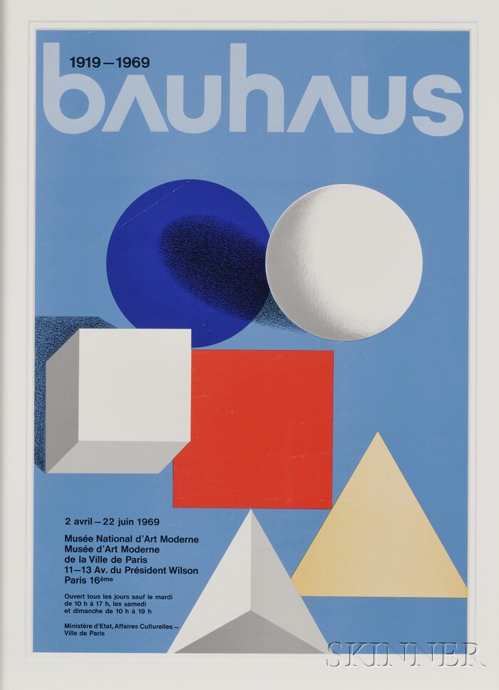 French School, 20th Century      Musee National d'Art Moderne Exhibition Poster for 1919-1969 bauhaus