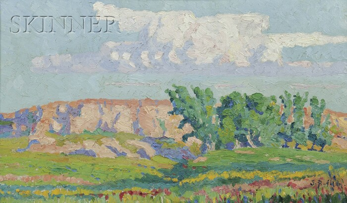 Selena P. Allan (American, 1861-1945)      Red Bluffs on a Clear Day