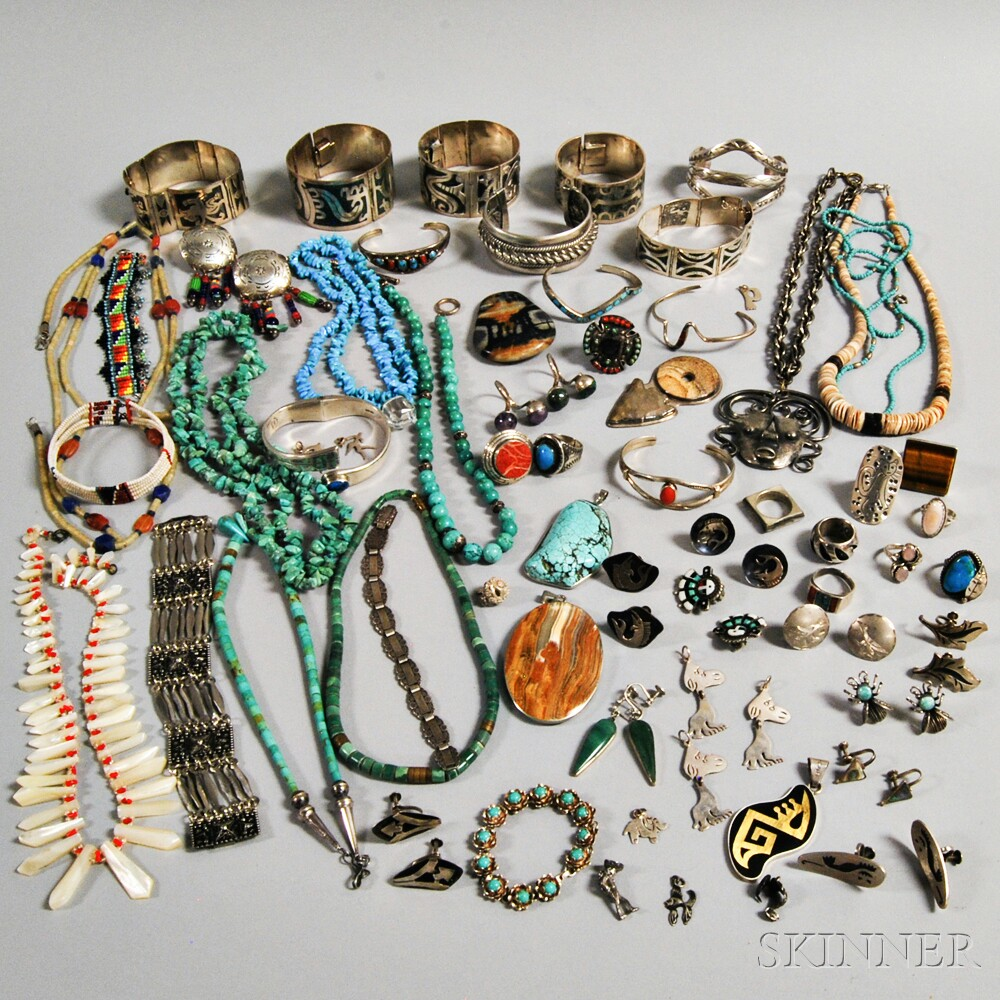 Group of Mostly Mexican and Native American Jewelry | Sale ...