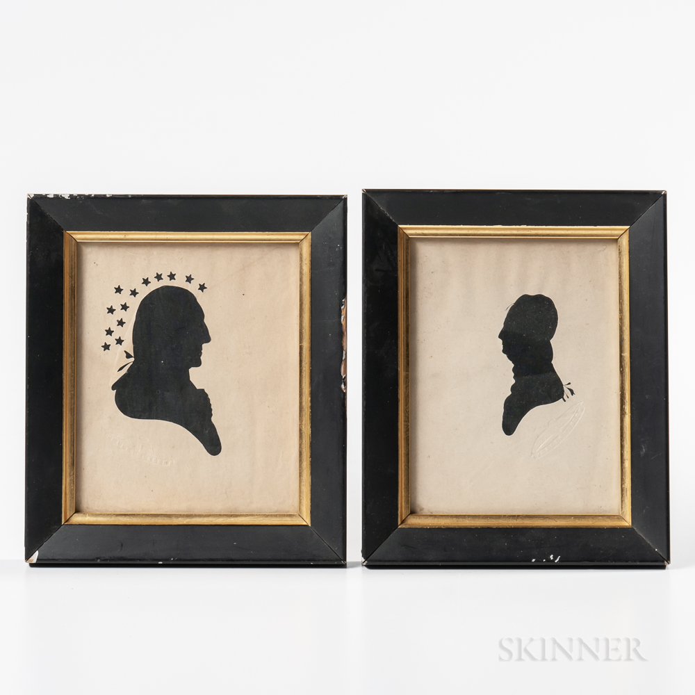 Two Hollow-cut Silhouettes
