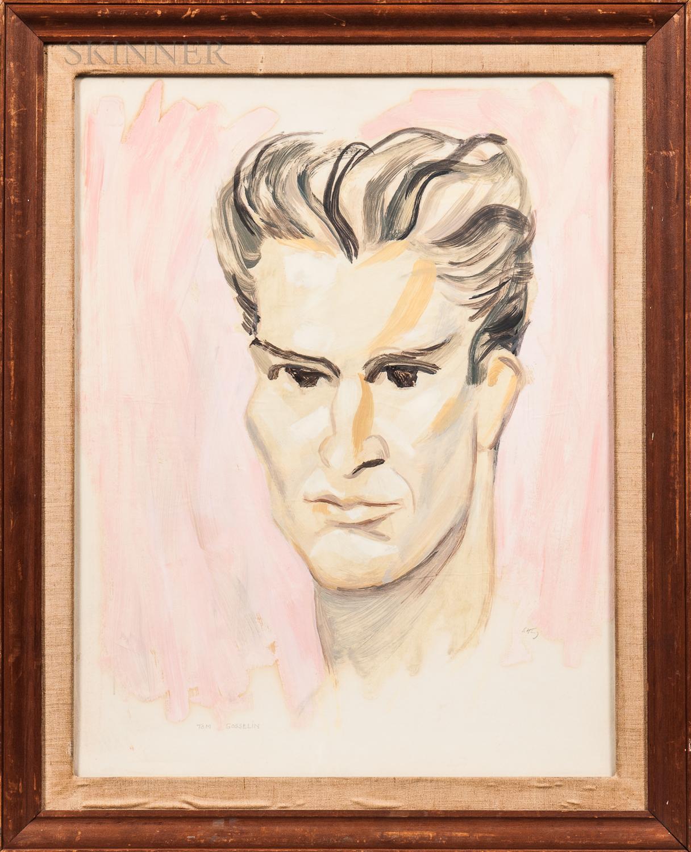 Emlen Pope Etting Jr. (American, 1905-1993)      Portrait Head of Tom Gosselin.