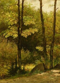 William Morris Hunt (American, 1824-1879)  The Wooded Path
