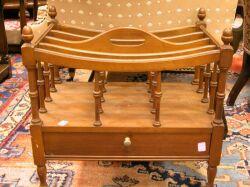 Columbia Furniture Co. Mahogany Canterbury.