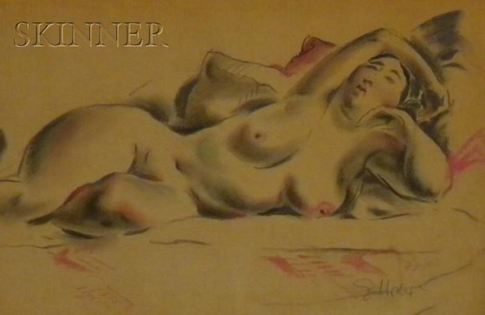 Earl Horter  (American, 1881-1940)      Nude