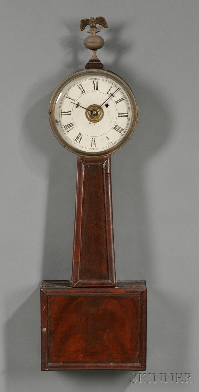 Mahogany and Mahogany Veneer Banjo Timepiece