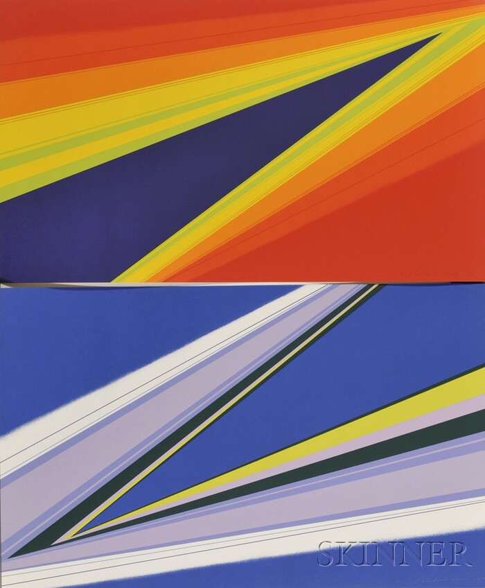 Rita Letendre (American, b. 1928)      Lot of Seven Non-Objective Prints, c. 1972