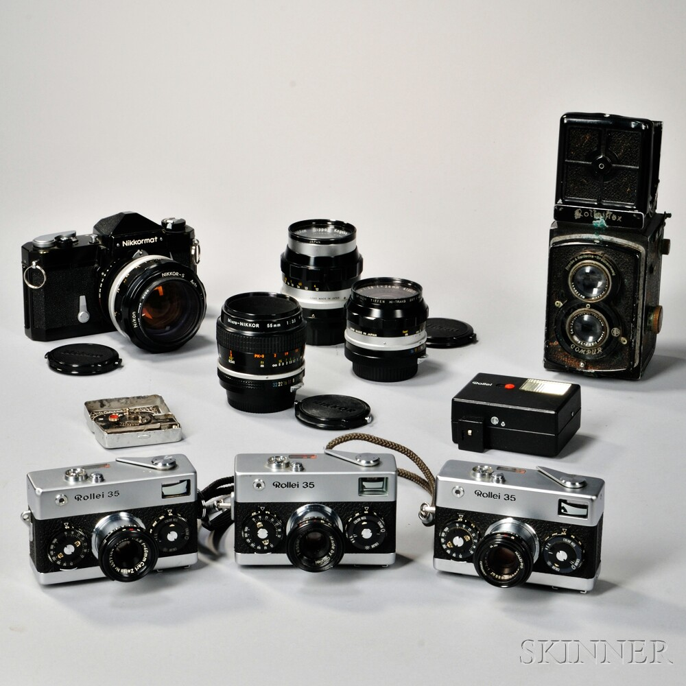 Rollei and Nikkormat Cameras and Lenses