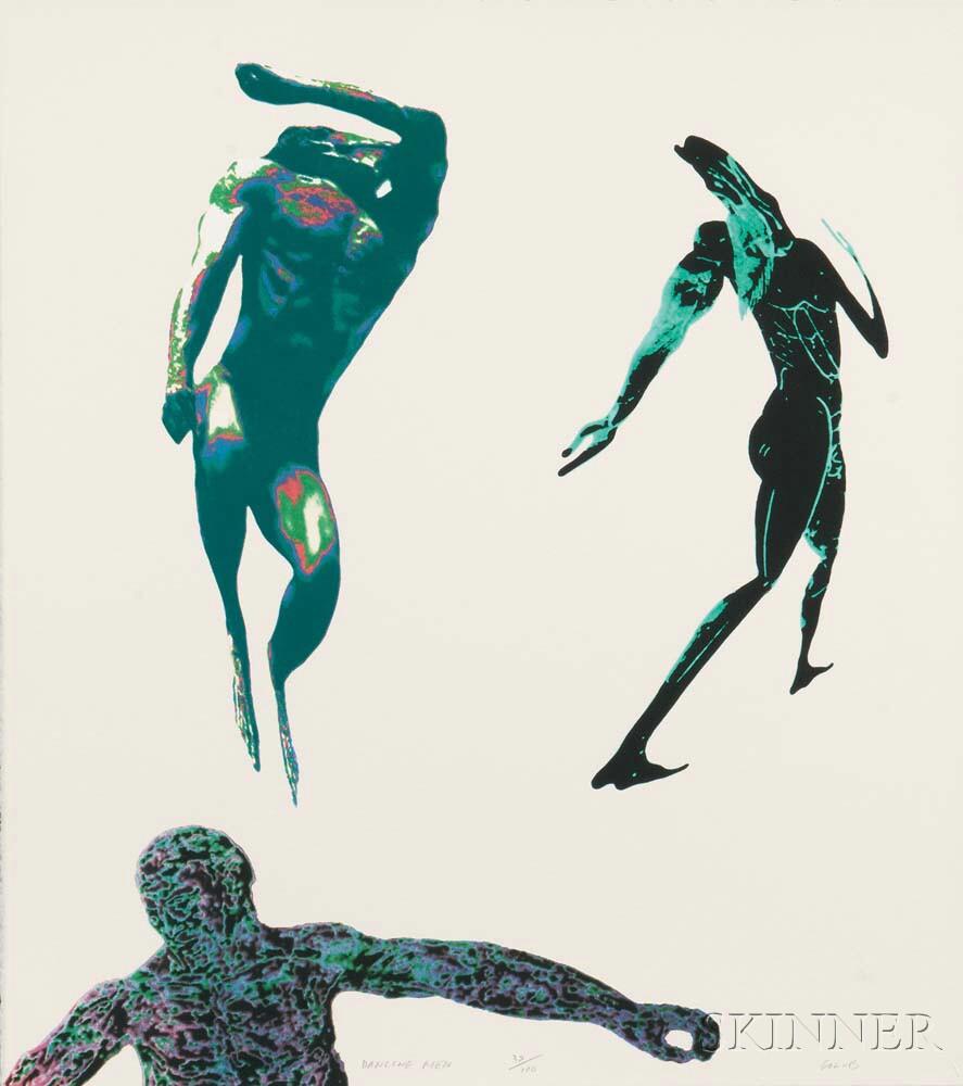 Leon Golub (American, 1922-2004)      Dancing Men