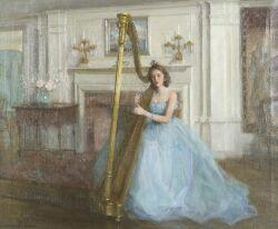 Marguerite Stuber Pearson (American, 1898-1978)  The Harpist