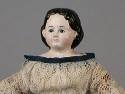 Very Small Papier-mache Greiner Doll with 1858 Label