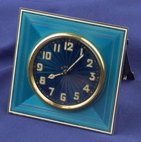 Silver Gilt Enamel Clock