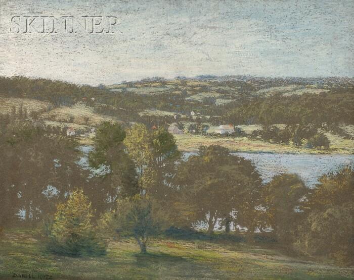 Daniel Kotz  (American, 1848-1933)      River View from a Hillside