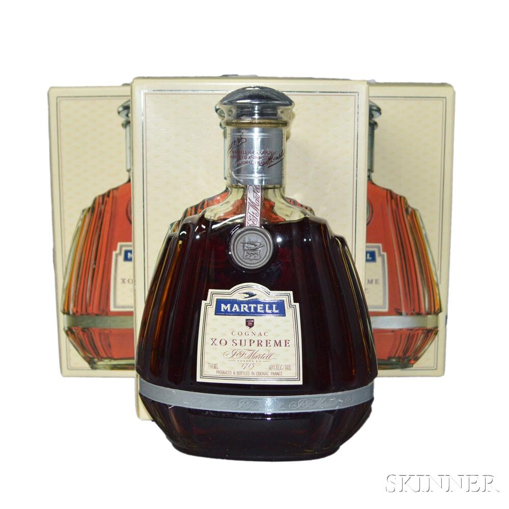 Martell XO Supreme Cognac, 3 750ml bottles (oc)