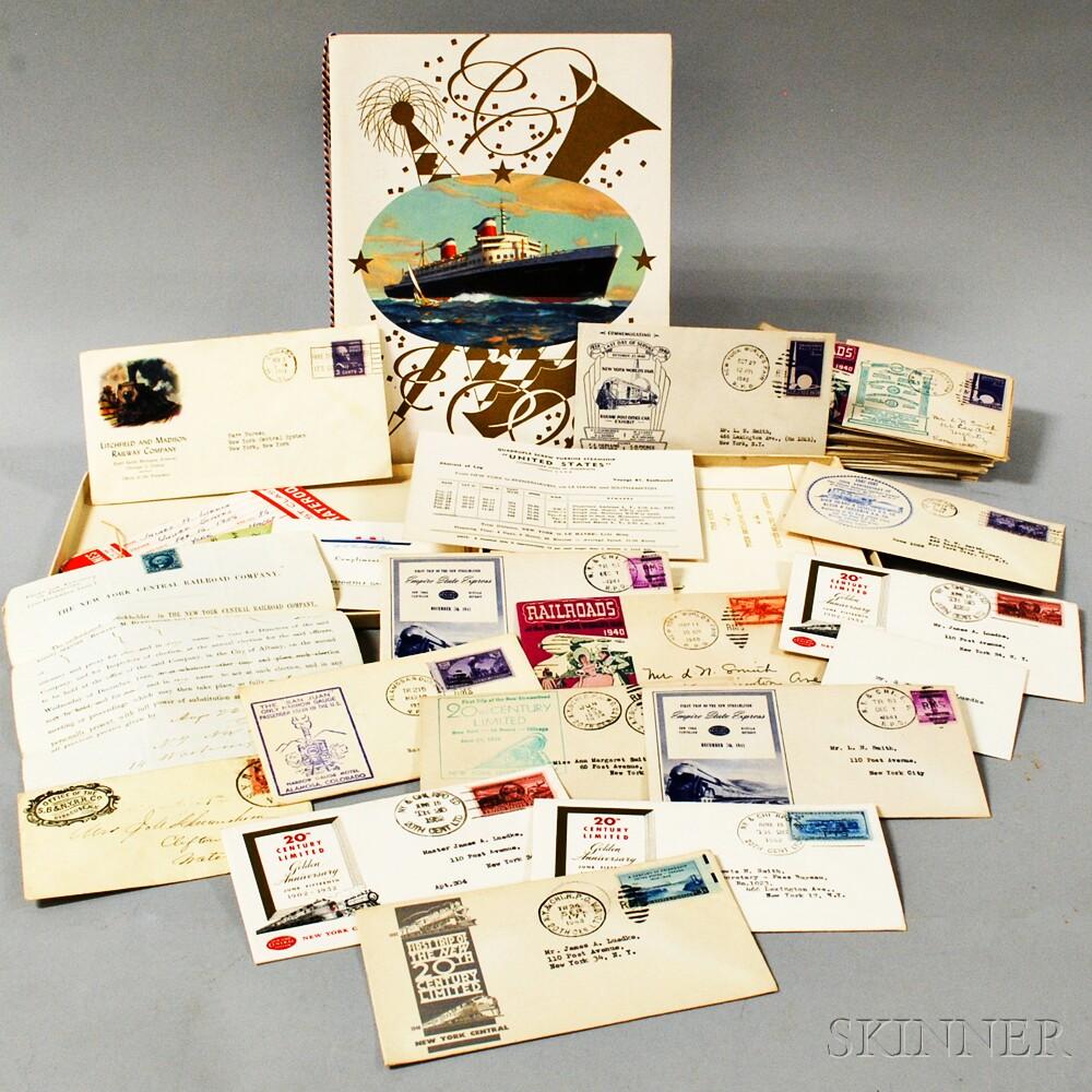 Group of Steamship and Railroad Memorabilia