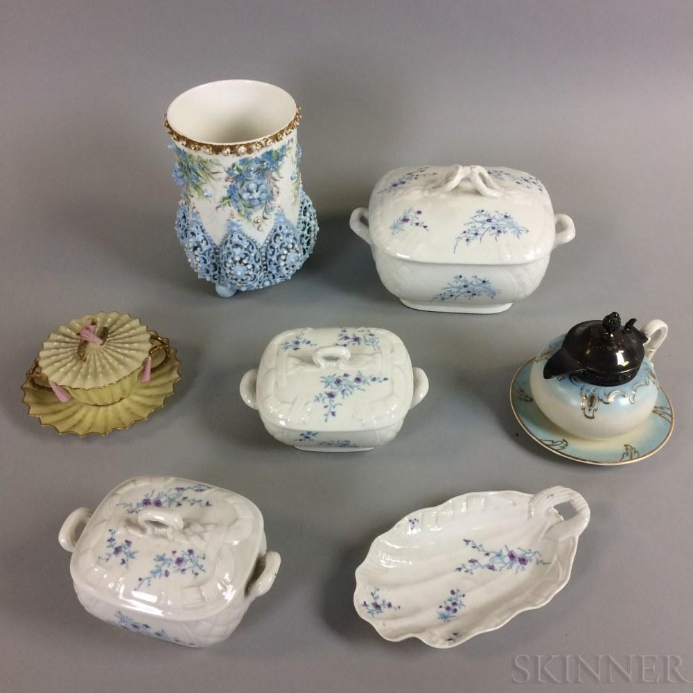 Nine Pieces of American Porcelain