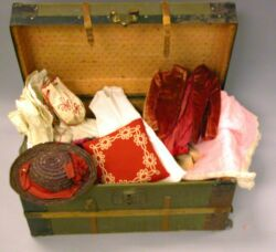 Doll Trunk and Clothing