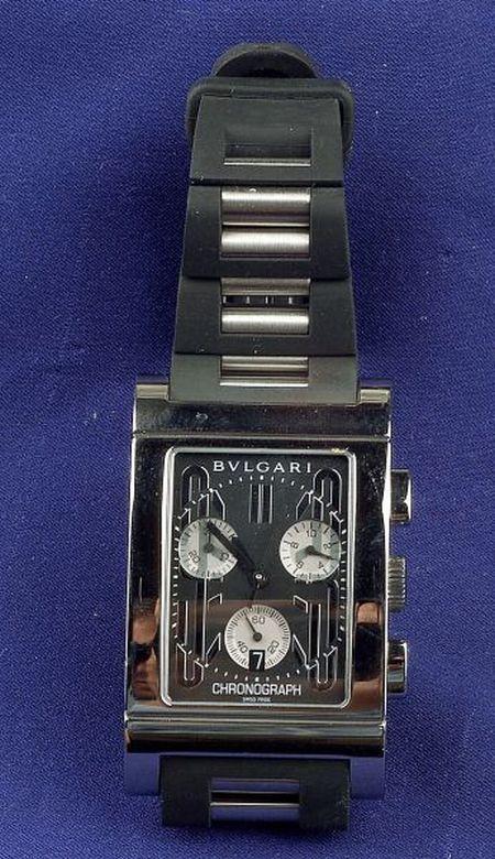 Stainless Steel Chronograph Wristwatch, Bulgari