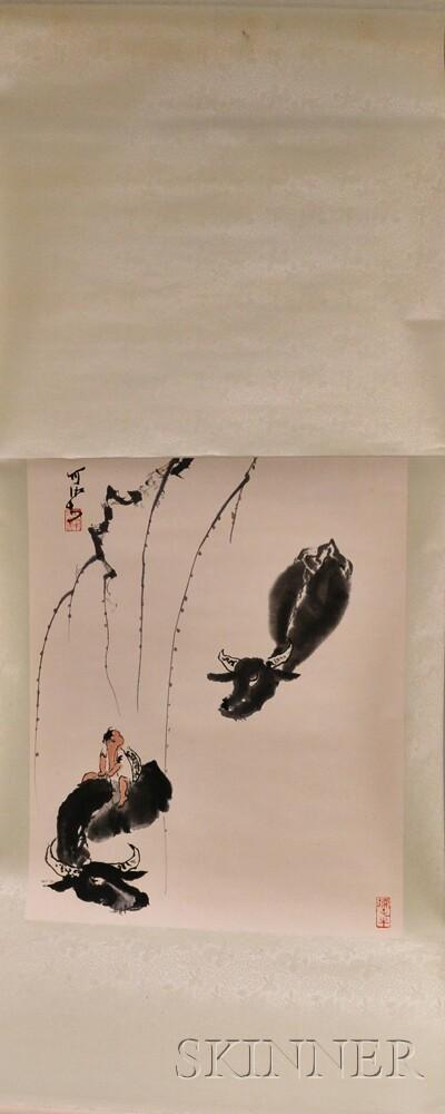 Hanging Scroll Depicting a Boy