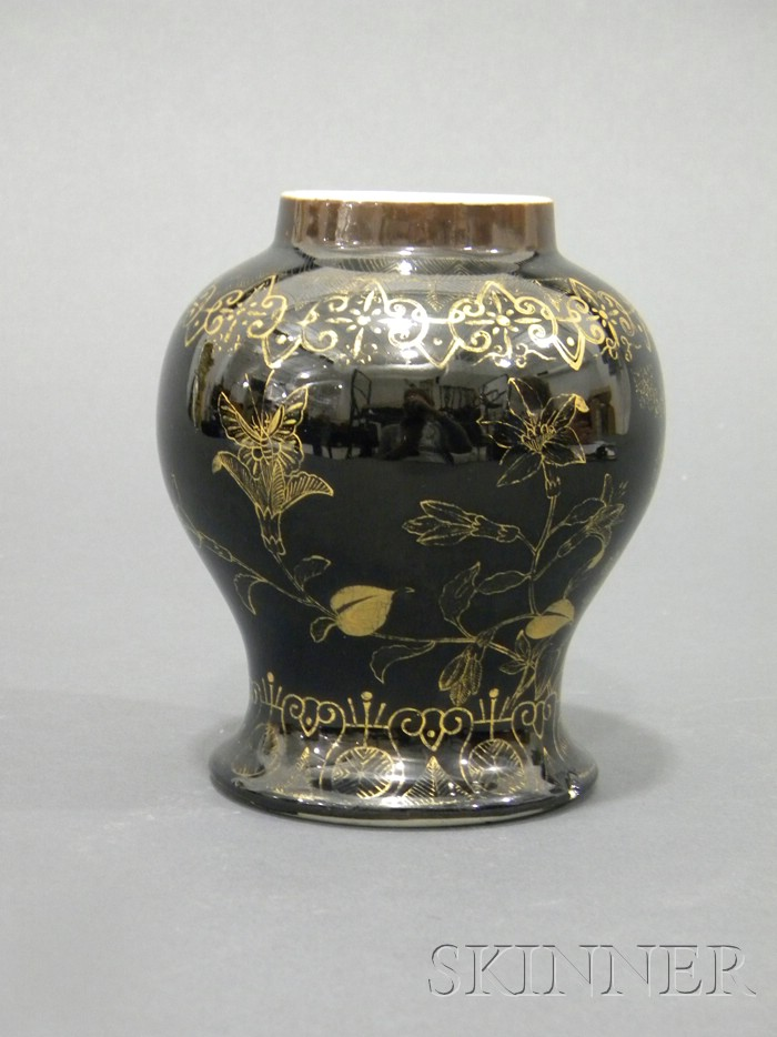 Black and Gilt Vase