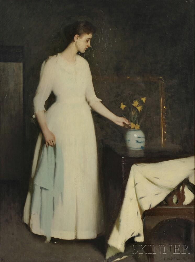 Frank Weston Benson (American, 1862-1951)      Figure in White
