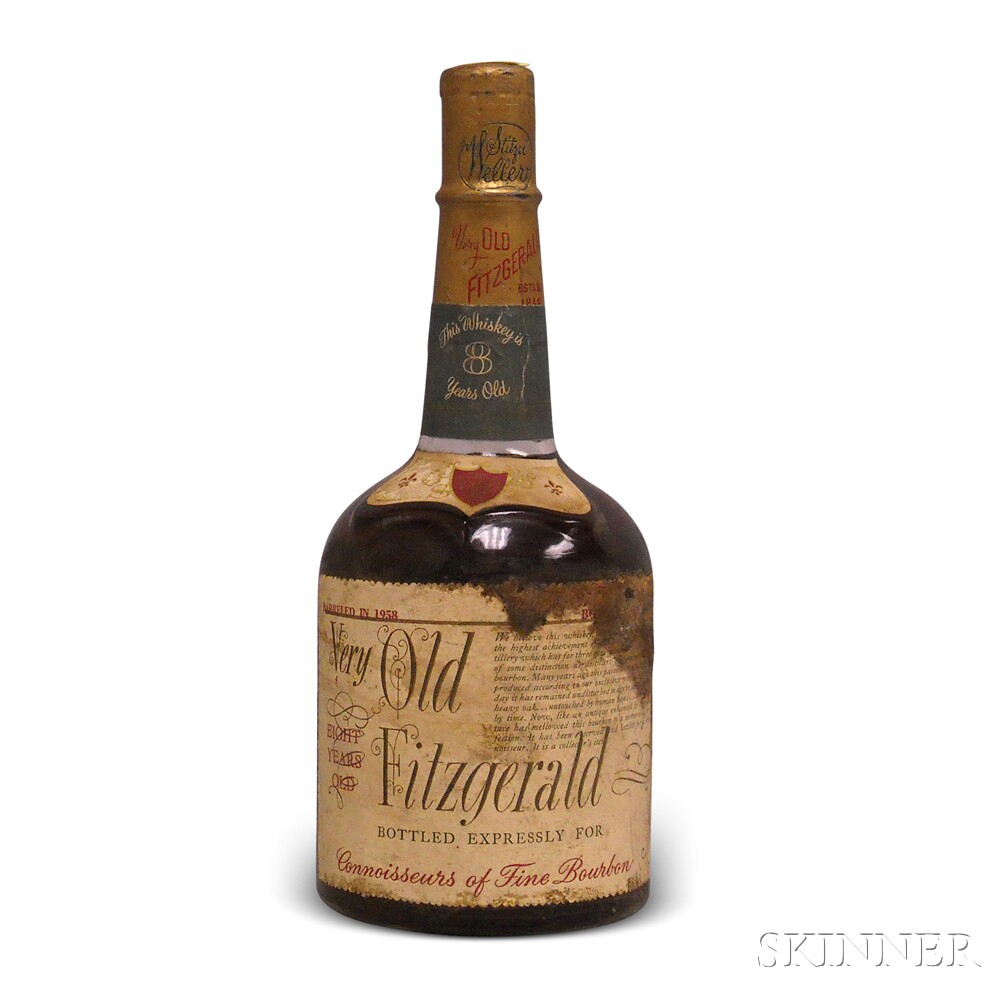 Very Old Fitzgerald Bourbon 8 Years Old 1958, 1 4/5 quart bottle