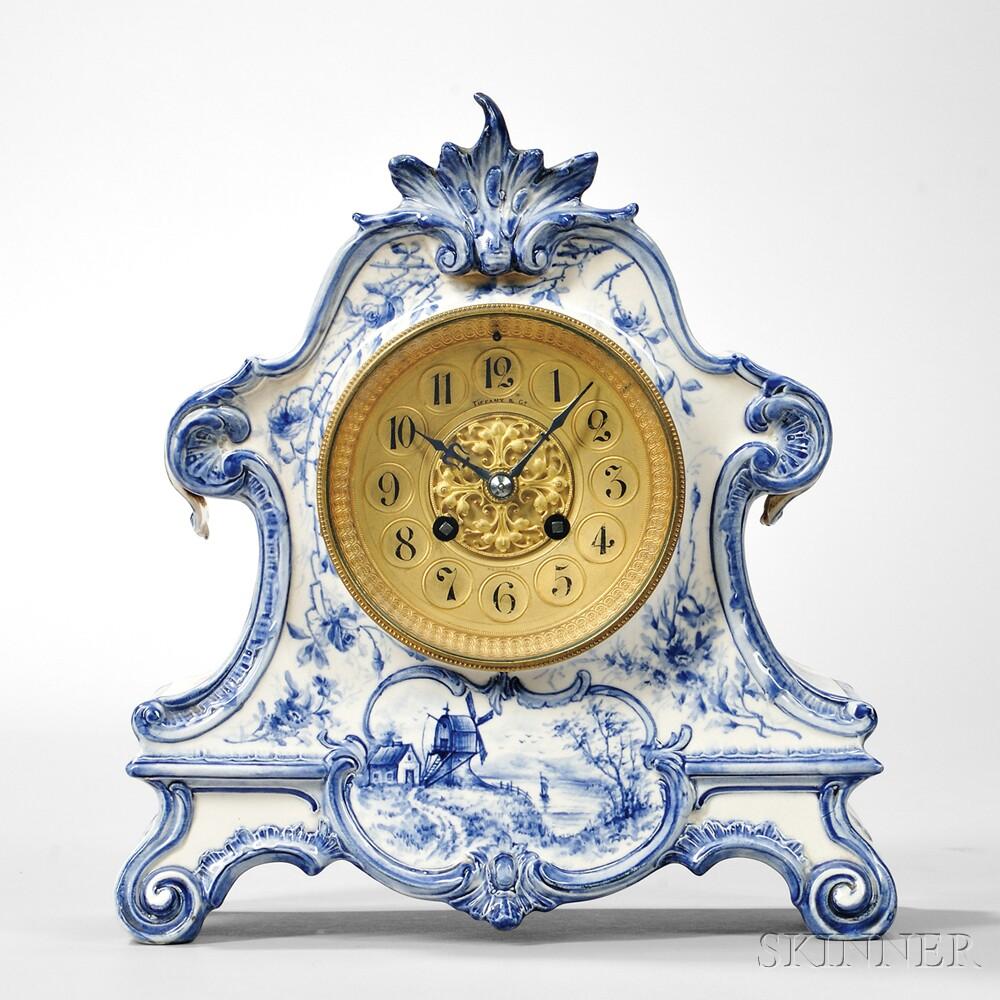 Tiffany Delft China Clock