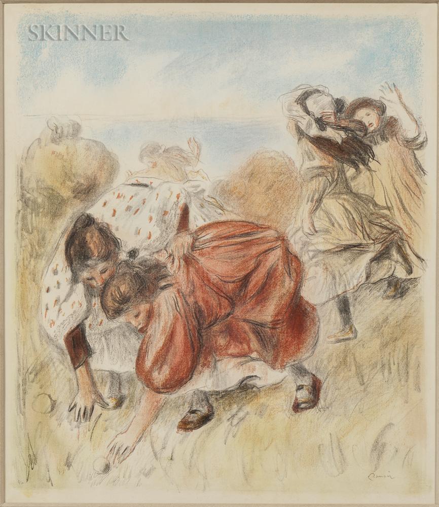 Pierre-Auguste Renoir (French, 1841-1919)      Enfants jouant à la balle